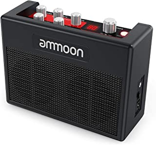ammoon Portable Guitar Amplifier Electric Guitar Amp 5 Watt Multi Effects Pedal Built-in 80 Drum Rhythms Support Tuner Tap Tempo Functions