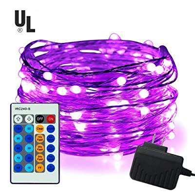 100 LED String Lights,Easest 33 feet Long Coppe...