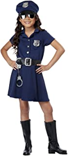 Girls Police Officer Costume Small (6-8)
