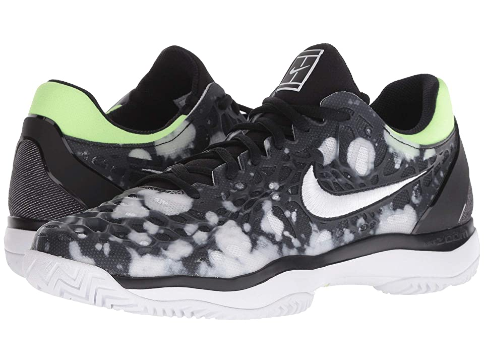Nike Air Zoom Cage 3 Premium (Black/White/Volt Glow) Men