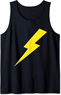 Awesome Lightning Bolt Yellow Print Tank Top
