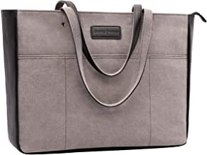 Laptop Tote Bag,Women 15-15.6 Inch Laptop Bag for Work,Lightweight Canvas Tote Bag Office Briefcase