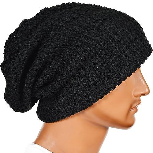 FORBUSITE Mens Slouchy Long Oversized Beanie Knit Cap for Summer Winter B08 cb843ebbff3