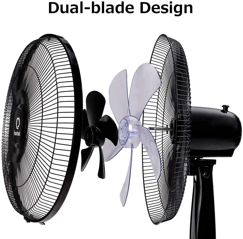 Toolsempire Double 5 Blades 16 Oscillating Pedestal Fan White