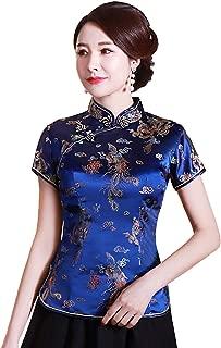 Shanghai Story Chinese Cheongsam Shirt Short Sleeve China Blouse for Women