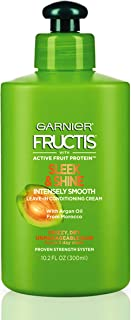 Garnier Fructis Sleek & Shine Intensely Smooth Leave-In Conditioning Cream, 10.2 Ounce, Pack of 1