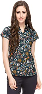 DJ & C By FBB Floral Print Pleated Shirt