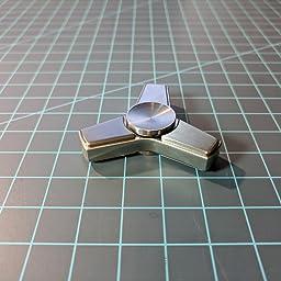 Silicon Nitride Silent Bearing FREEFOG Stainless Steel Fidget Spinner Silver, D 1.5 4~6 Mins Desktop Rotating Gyro Tri Spinner