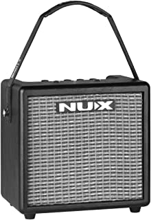 NUX Mighty 8BT 8-watt Portable Electric Guitar Amplifier with Bluetooth, Guitar and Microphone Channels,Mobile APP (with B...