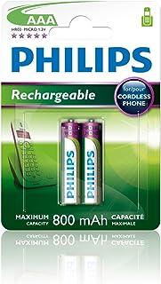 Philips Multi Life - Pilas recargables NiMH AAA 800 mAh (