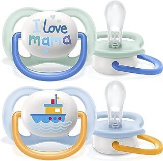 Philips Avent Ultra Air-fopspeen, voor 0-6 maanden, orthodontisch en BPA-vrij, 2 stuks, inclusief sterilisator/draagtas, S...