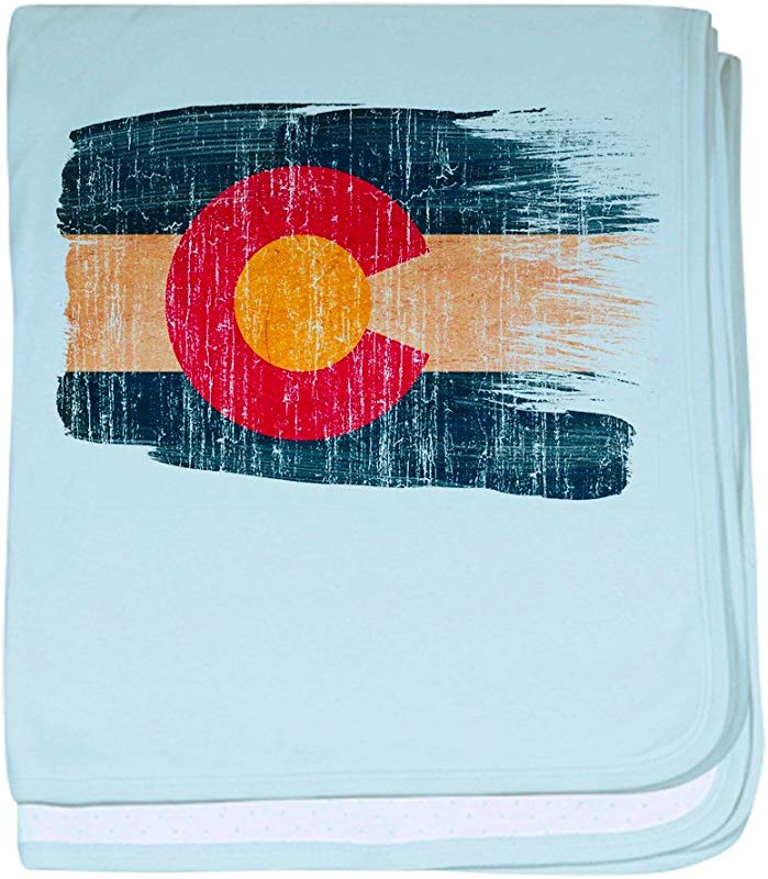 CafePress Colorado Flag Baby Blanket Super Soft Newborn Swaddle