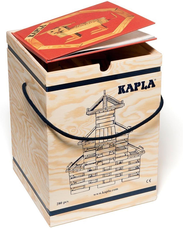 entrega de rayos Kapla Madera Madera Madera construcción 280piedras en madera ksite con libro de sintética  Web oficial