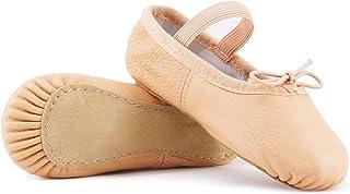 DIPUG Ballet Shoes for Girls Ballet Slippers Genuine Leather Toddler Ballet Shoes Dance Shoes for Girls Pink Kids Ballet Shoes