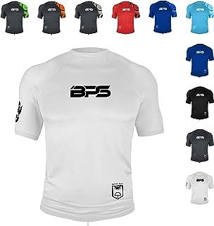 BPS Men's UPF 50+ Long Sleeve and Short Sleeve Rashguard