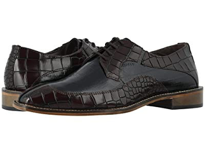 Stacy Adams Trimarco Leather Sole Moe Toe Oxford (Burgundy/Black) Men