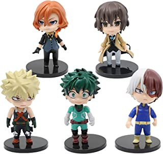 Dawei My Hero Academia Cake Topper 5-Figure Play Cake Decorations My Hero Academia Party Supplier