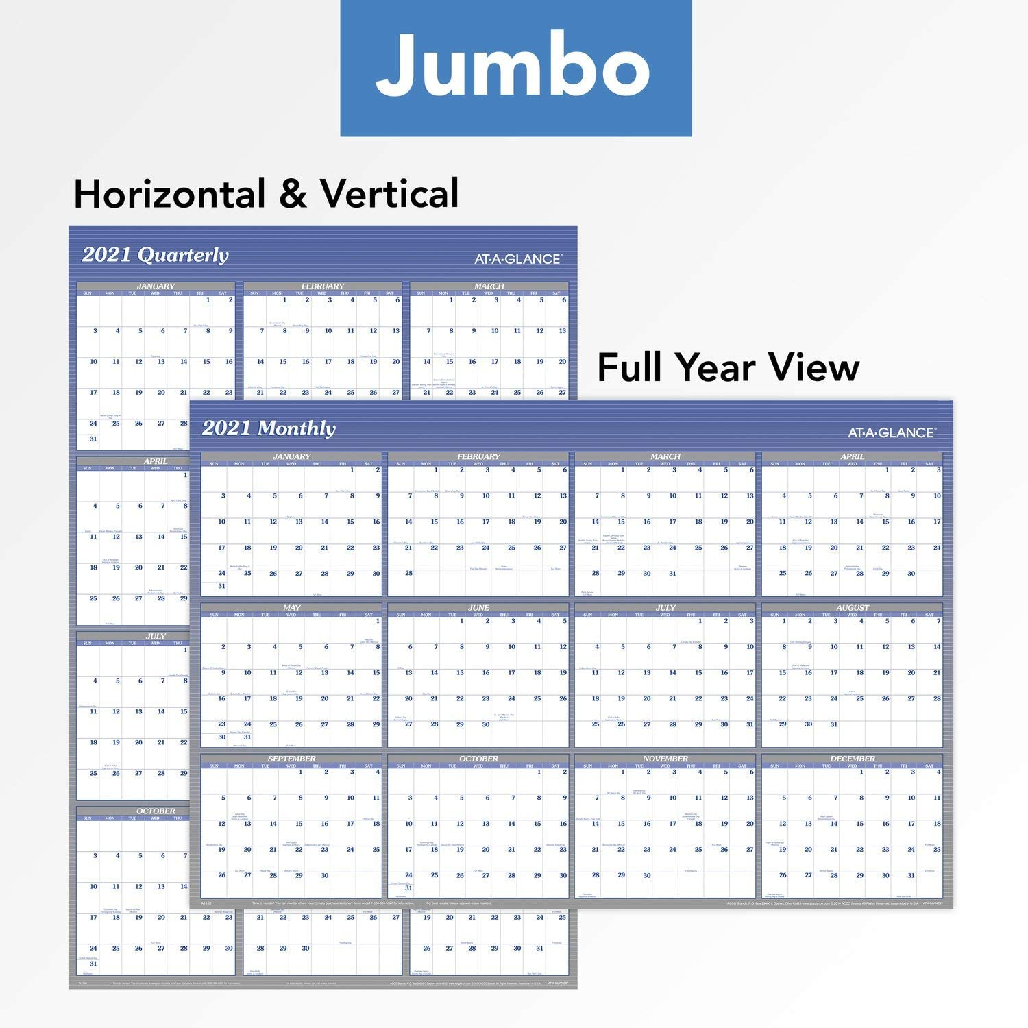 Blank Planner 42 cm x 59.4 cm A2 Portrait Format Colour 2019-20 Mid-Year Wall Planner