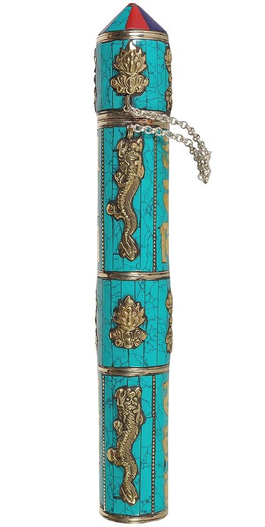 リサイクルするブーストシマウマエキゾチックインディアzce22?LargeサイズTibetan Buddhist Incense Sticksホルダー