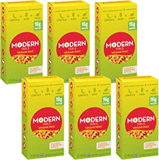 Sponsored Ad - Modern Table Classic Cheddar Vegan Mac & Cheese, Complete Protein, 5.89 oz, 6 Count