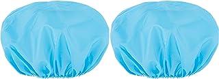 Plastic Shower Reusable Cap Big Head - Pack of 2 - Bathroom Clear Wrap for Hair - Plastic Shower Head Turban