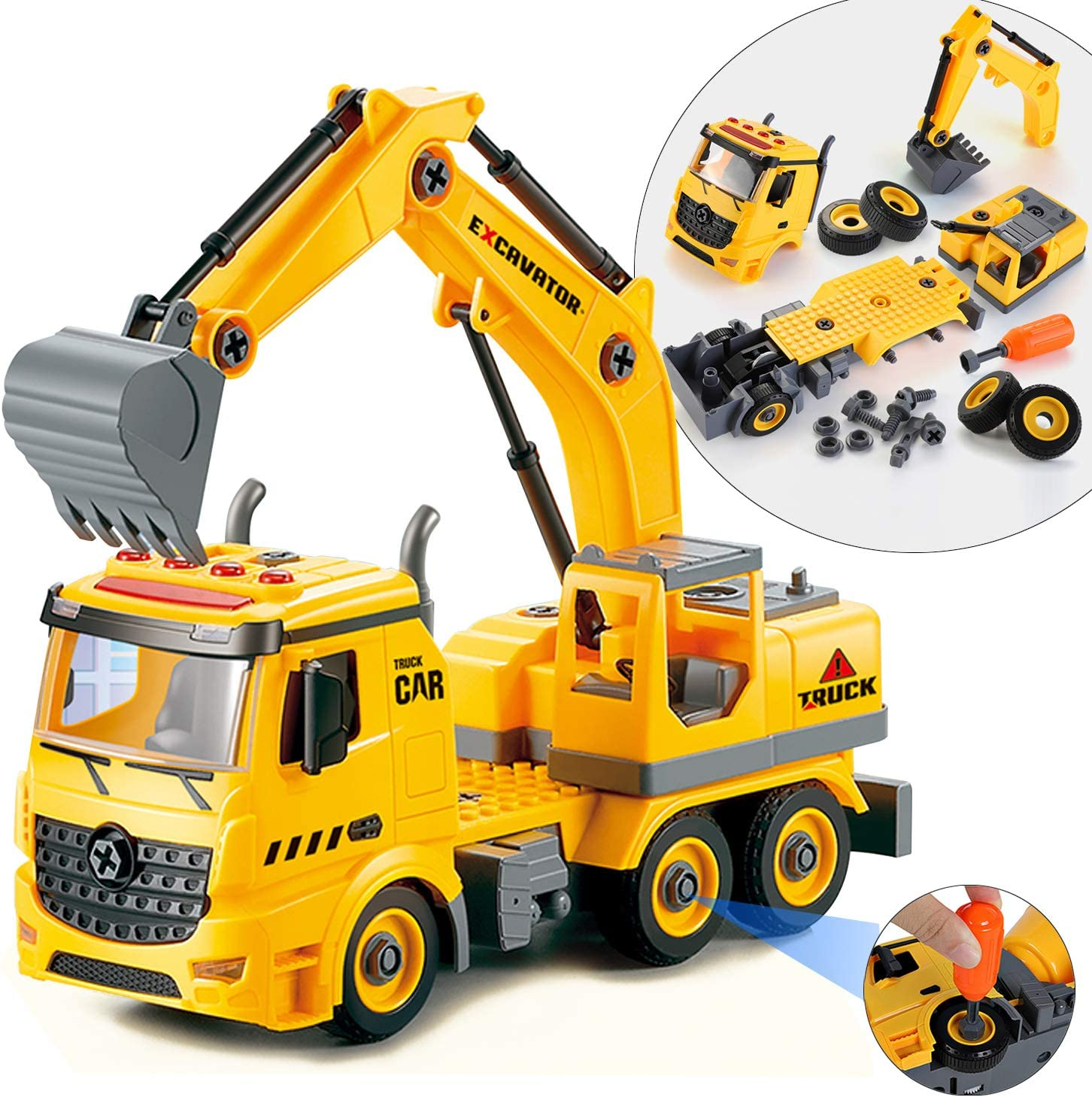MARUMINE Take Apart Toys Vehicle 74PCS Construction Truck Play Max Free shipping on posting reviews 61% OFF