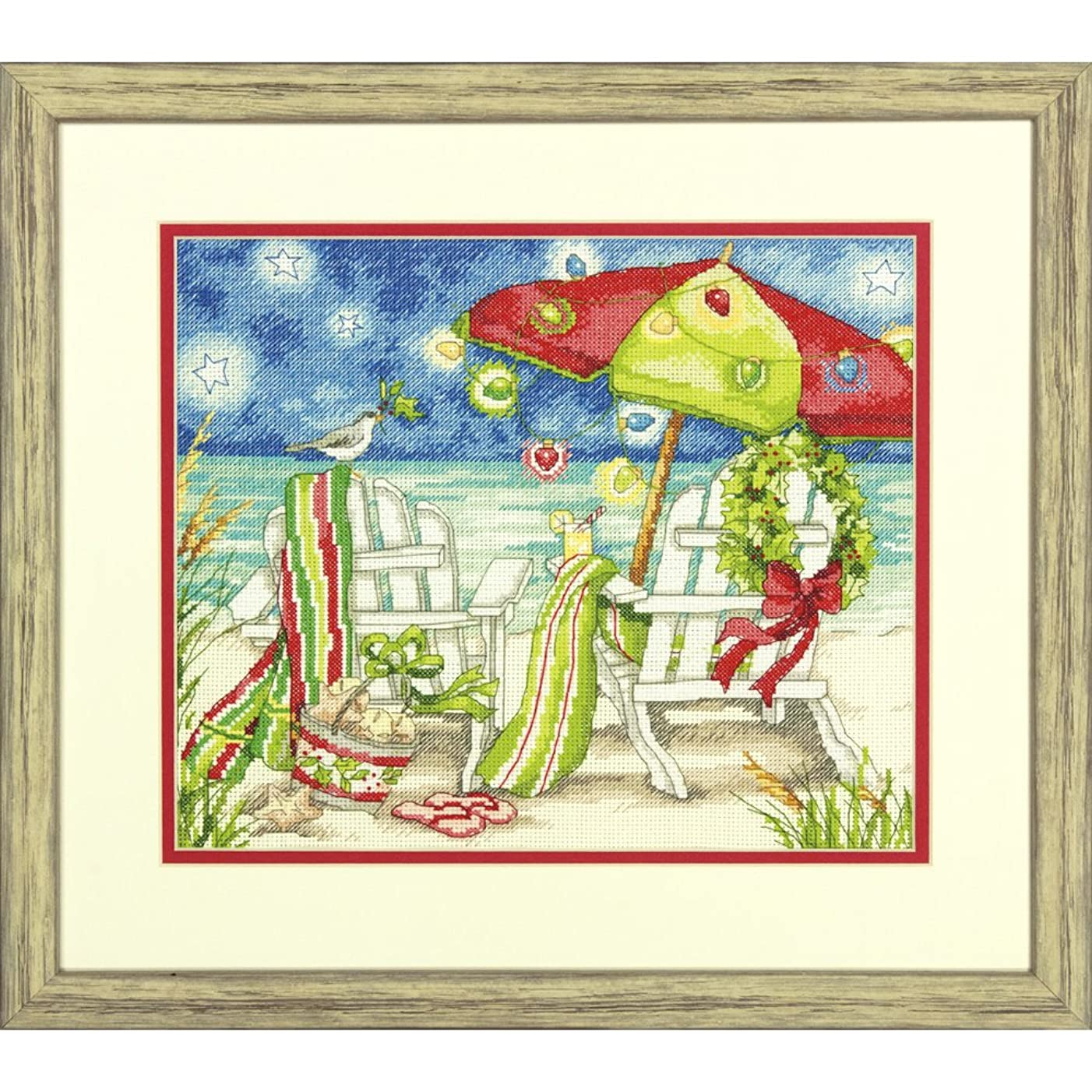 Dimensions Needlecrafts Dimensions Christmas Beach Chairs Counted Cross Stitch Kit, 70-08948
