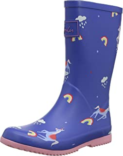 Joules Kids Baby Girl's Roll Up Packable Welly Rain Boot (Toddler/Little Kid/Big Kid)