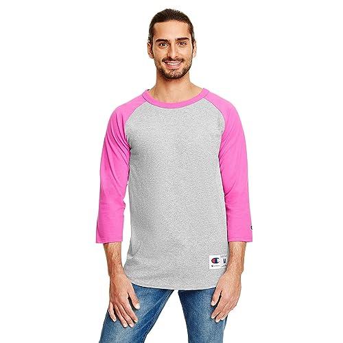 04570454 Champion Men`s Raglan Baseball T-Shirt
