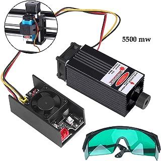 Mcwdoit 445nm/5.5W Blue Laser Module Kit for CNC Machine DIY Engraver 1610-Pro/1810-Pro/3018/3018-Pro/3018 Pro-M