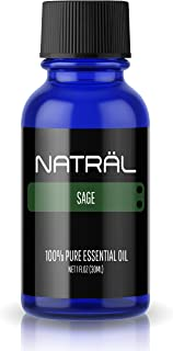 NATRÄL Sage, 100% Pure and Natural Essential Oil, Large 1 Ounce Bottle