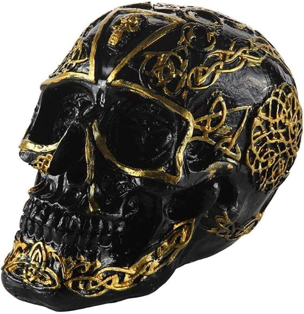 Statues Black and Gold Pattern Max 73% OFF Ranking TOP14 Head Co Statue Figure Skull