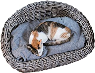Storage Basket, Natural Handmade Wicker Portable Grass Bed, Willow and Pet Hut for Small Pets Rabbits, Chinchillas, Guinea Pigs Other Animals