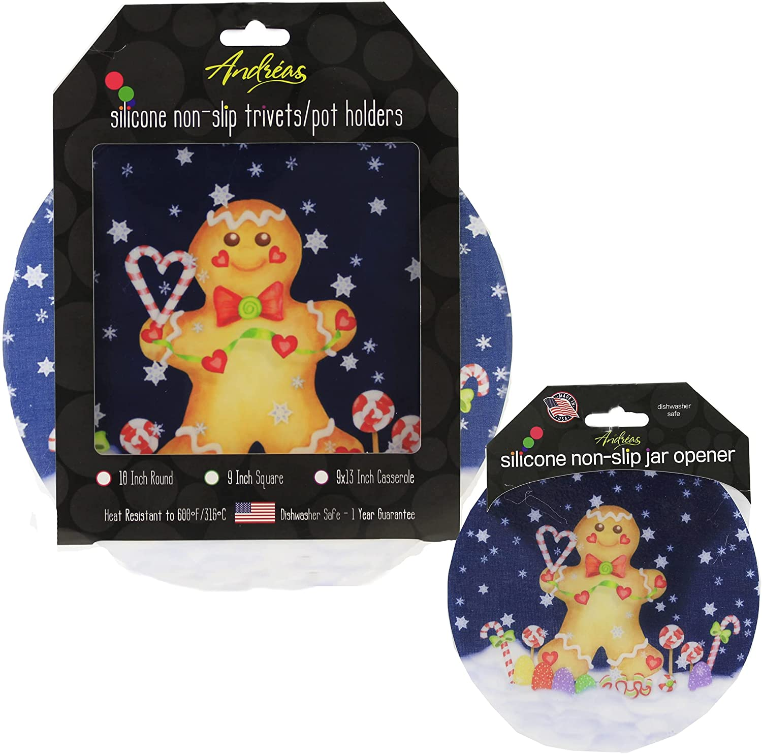 Tabletop Gingerbread Man Silicon Silicone Pads 10.0