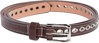 Eyelet Rivet Detail Slim Belt For Women Closet by Styli