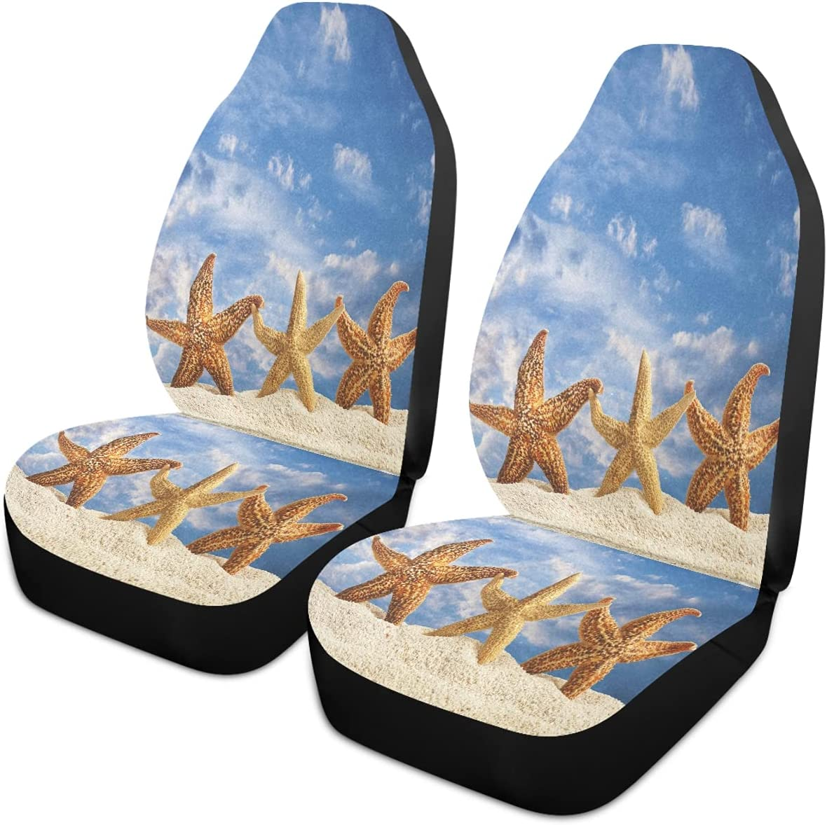 Oarencol Summer New product Starfish Beach Blue Universa Car Covers Sky Seat Bombing new work