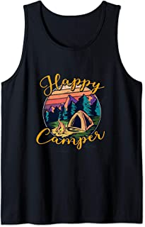 Funny Camper Happy Camping Lover Camp Vacation Kids Men Gift Tank Top