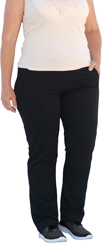 SCR SPORTSWEAR 28/30/32/34 Inseam Tall Petite Regular Plus Size S-4X Athletic Pants for Women with Zipper Pockets High Waist