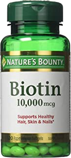 Nature's Bounty Biotin 10,000 mcg, Rapid Release Softgels 120 ea ( Pack of 2)