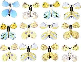 KODORIA 12pcs Flying Butterfly Classic Wind Up Swallowtail Butterfly Close Up Magic Set,Assortment