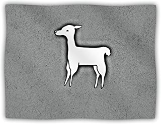 "Kess InHouse Monika Strigel ""Llama One"" Pet Dog Blanket, 30 by 40-Inch, Grey"