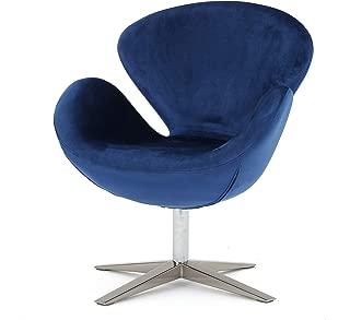 Christopher Knight Home Manhatten New Velvet Modern Swivel Chair (Navy Blue)