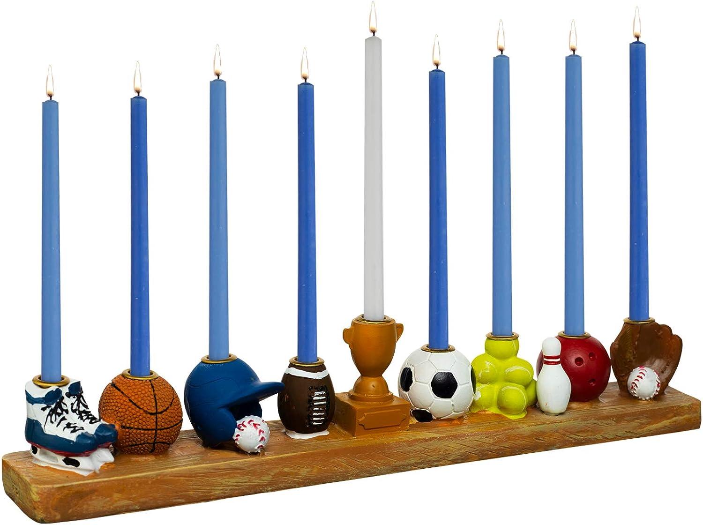 Rite Lite Superior Hand Indianapolis Mall Painted Resin Sports Hanukkah - a Menorah of Love