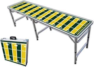 8-Foot Professional Beer Pong Table w/Optional Cup Holes - Green Bay Football Field Graphic