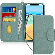 FYY Case for iPhone 11, [Kickstand Feature] Luxury PU Leather Wallet Case Flip Folio Cover with [Card Slots] and [Note Poc...