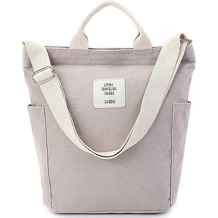 Handtasche Damen Cord Tasche Canvas Shopper Umhängetasche Schulrucksack für Travel Office School Shopping Alltag Uni Arbeit Mädchen Schule