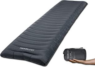 Trekology Camping Mat, Sleeping Pad, Camping Mattress - UL80 Inflatable Airbed Roll Mat Lightweight Camp Mats, Ultralight Single Inflating Bed for a Good Night Sleep on Tent Ground or Hammock …