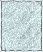 Merry Christmas,Chrismas Blanket,Blanket for Winter Plush Blanket Double Print Pale Blue Shabby Chic Curly Flowers Breathable All Season Use Twin(66
