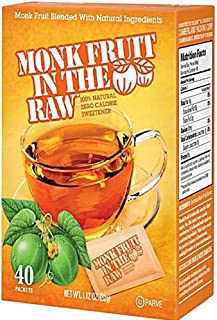 Monk Fruit In The Raw Zero Calorie Sweetener, 40 CT