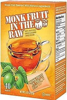 Monk Fruit in the Raw Sweeteners, 3pk, 40ct, 120ct